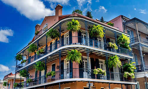 Picture of building in New Orleans French Quarter