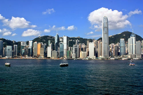 Hong Kong skyline from the bay