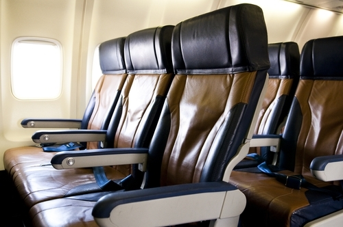 premium economy seats on an airplane