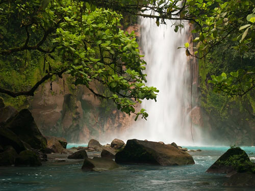 Waterfall  in Costa Rican jungle